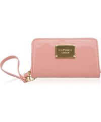 Růžová lakovaná peněženka LYDC London