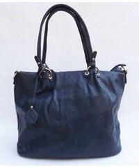 Prostorná dámská modrá kabelka Dudlin, Barva Modrá Wild by loranzo 4140-11