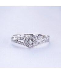 KLENOTA Zásnubní diamantový prsten ze stříbra