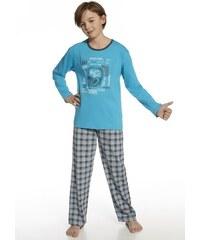Chlapecké pyžamo Cornette 810/36 Music Acqua