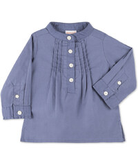 Chemise plissée bleu