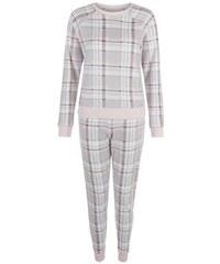New Look Teenager – Hellgraues kariertes Pyjama-Set