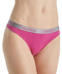Calvin Klein růžová tanga se stříbrnou gumou