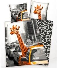Klaus Herding GmbH Povlečení New York Žirafa 140/200 + 70/90 cm