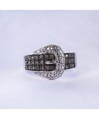 KLENOTA Stříbrný prsten ve tvaru pásku