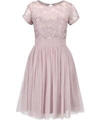 Starorůžové krajkované šaty s tylovou sukní Little Mistress