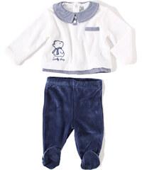 Losan SET: velurový kabátek a polodupačky Newborn 'Medvídek'