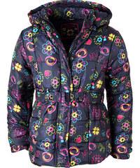 Losan Prošívaný zimní kabát s páskem 'Květy'