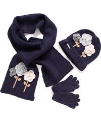 Mayoral SET: čepice,šála,rukavice 'Květiny'
