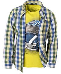 Mayoral Bavlněná košile 'Premium' kostka zelená