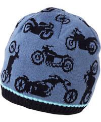MaxiMo MAXIMO jarní úpletová bavlněná čepice 'Motorky'