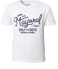 Mayoral Bavlněné chlapecké triko s výšivkou Mayoral