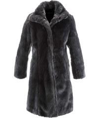 bpc selection Manteau en synthétique imitation fourrure gris manches longues femme - bonprix