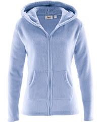 bpc bonprix collection Veste polaire à capuche bleu manches longues femme - bonprix