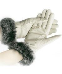 Damské rukavice kožené s kožešinou ZR0001-0101
