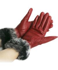 Damské rukavice kožené s kožešinou ZR0001-0203