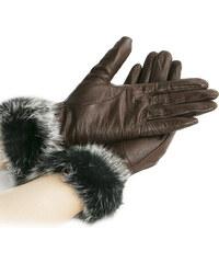 Damské rukavice kožené s kožešinou ZR0001-0308