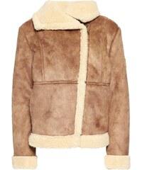 American Outfitters Veste en similicuir brown