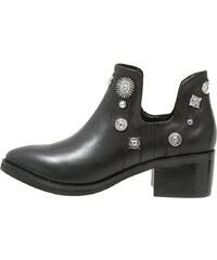 Eeight Boots à talons black/silver