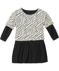 B Karo Kleid mit kurzem Schnitt - schwarz