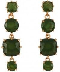 Les Néréides Boucles d'oreilles - vert chêne