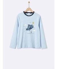 Cyrillus Haut de pyjama en coton - bleu ciel