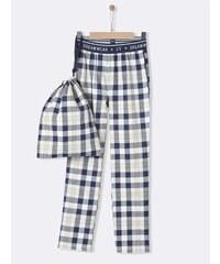 Cyrillus Pantalon de pyjama en coton - bleu classique