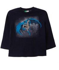 Benetton T-shirt à manches longues en coton - bleu marine
