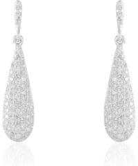 Histoire d'Or Boucles d'oreilles en or blanc avec diamants - blanc