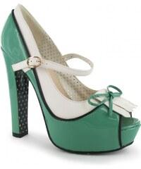Banned Peep Toe Heel Ladies, mint/wht/blk