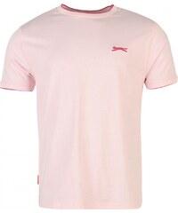 Slazenger Tipped T Shirt Mens, pink