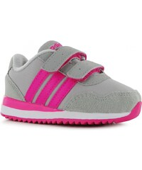 Adidas neo Jogger Rip Trainers Infant Girls, ltgrey/pink