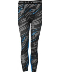 Under Armour HeatGear Armour Print Tights Junior Boys, black