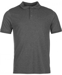 Pierre Cardin Plain Polo Shirt Mens, charcoal marl