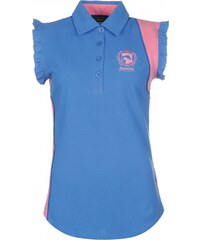 Requisite Sleeveless Polo Shirt Ladies, sky blue