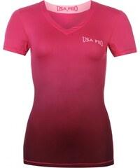 USA Pro Base Layer Training T Shirt Ladies, pink