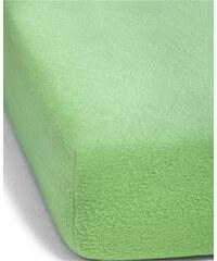 bpc living Spannbettlaken Fleece in grün von bonprix