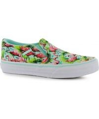 Vans Asher Slip On Canvas Junior Shoes, mint flamingo