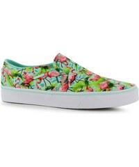 Vans Asher Canvas Slip on Shoes, mint flamingo