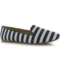 Miso Sassy Slipper Ladies Shoes, navy stripe
