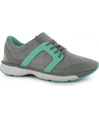 Fabric Bounce Runner Ladies Trainers, grey marl/mint