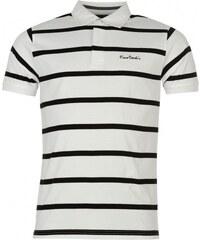 Pierre Cardin Short Sleeve Rugby T Shirt Mens, white/black