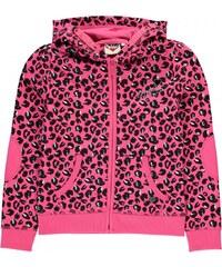 Lee Cooper AOP Full Zip Hoody Junior Girls, aop leopard