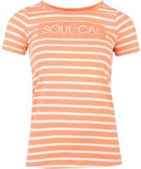 Soul Cal SoulCal Crew T Shirt Ladies, coral/white