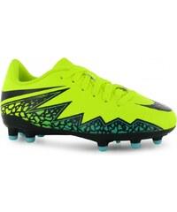 Nike Hypervenom Phelon FG Football Boots Childrens, volt/black