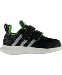 Adidas HyperFast Infant Trainers, blk/silv/green