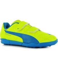 Puma EvoSpeed 5.4 Astro Turf Trainers Childrens, yellow/blue