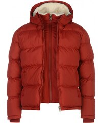 Soul Cal SoulCal Two Zip Bubble Jacket Mens, rosewood red