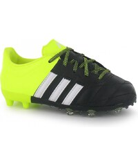 Adidas Ace 15.1 Leather FG Childrens Football Boots, black/yellow