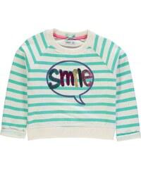Heatons Smile Slogan Crew Sweater Child Girls, cream